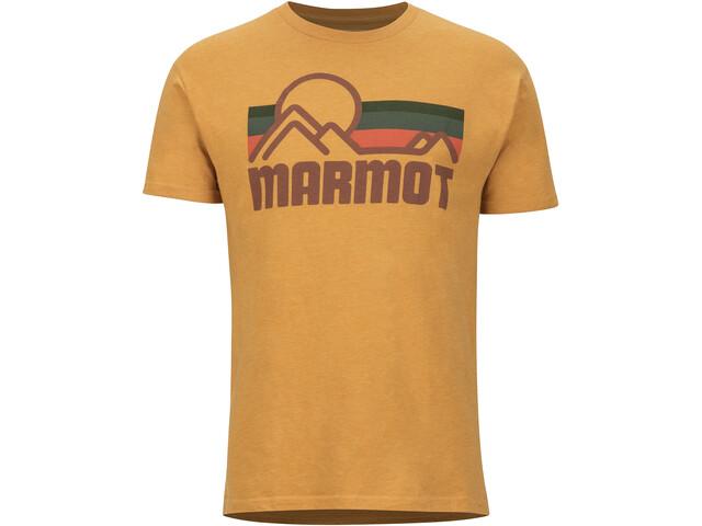 Marmot Coastal SS Tee Herrer, new aztec gold heather